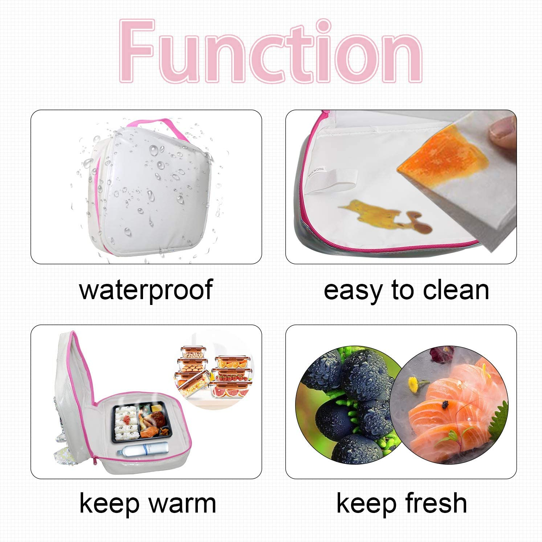 MaoMaoYongHui A-ria-na Gr-ande Bolsa de almuerzo reutilizable personalizada Bolsa de mano Bolsa para ni/ños Cremallera para bolso escolar