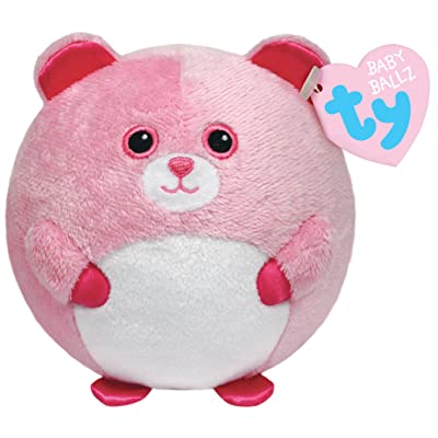 Ty Beanie Ballz Pinky Baby Bear Plush: Toys & Games
