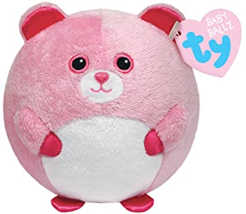 Amazon.com  Ty Beanie Ballz Pinky Baby Bear Plush  Toys   Games d94e58fc501e