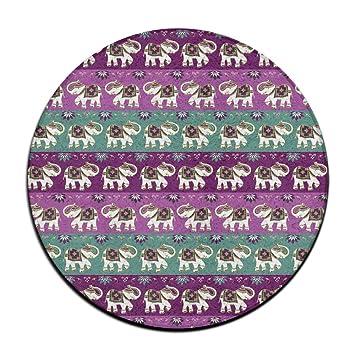 Elefante Indien Fleur De Sol Rond Tapis Paillasson Pour Décoration - Carrelage salle de bain et tapis amérindien