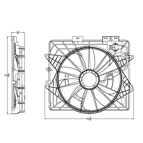Amazon Com Cpp Radiator Cooling Fan Assembly For Cadillac Cts Srx