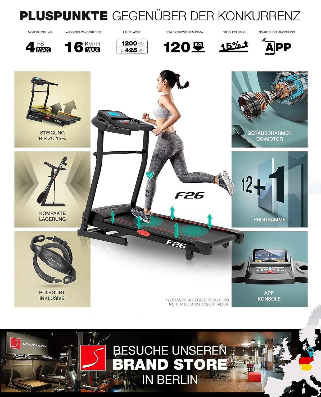 Sportstech F26 - Cinta de Correr Profesional con aplicación para ...