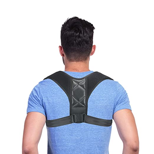COREBELLA Posture Corrector Back Support Brace for Men and Women - Improves Posture, Prevents Slouching and Hunching, Reliefs Upper Back and Neck Pain - Adjustable and Comfortable with Underarm Pads best men's posture corrector