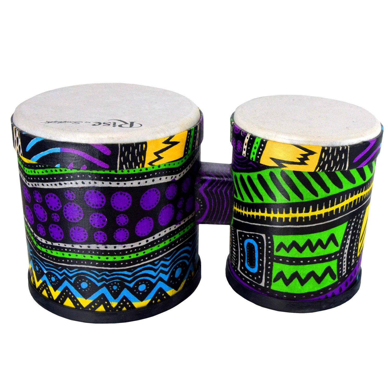 Sawtooth Rise Jamaican Me Crazy Bongos, 5.25'' -6.5'' (ST by Sawtooth