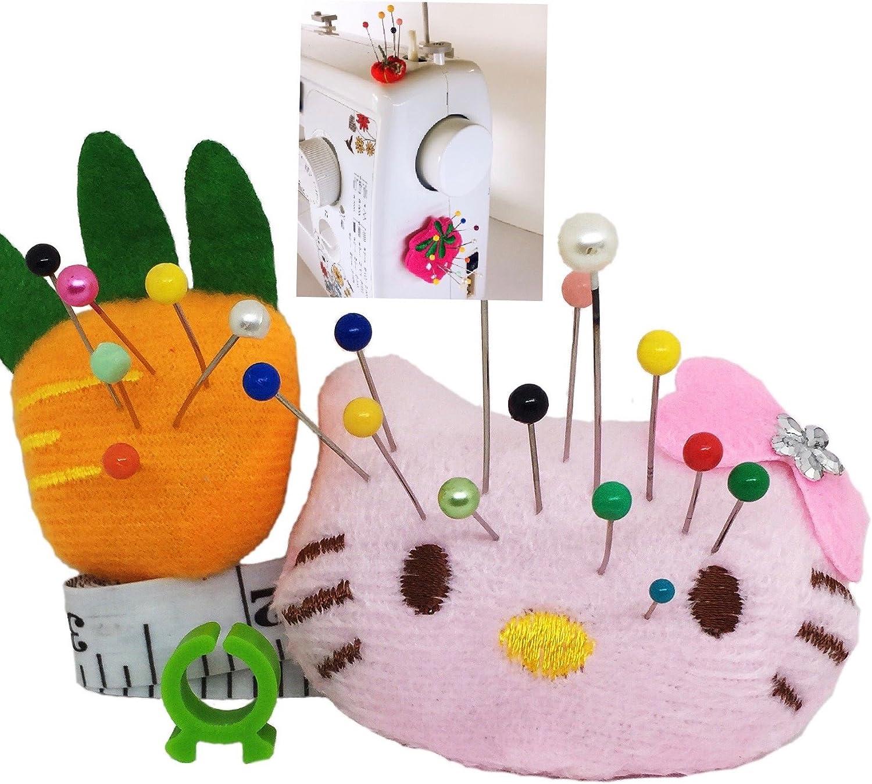 Pincushion for Sewing Machine Pin Holder 2 pcs Needle Storage Organizer DIY Craft Pink Girl