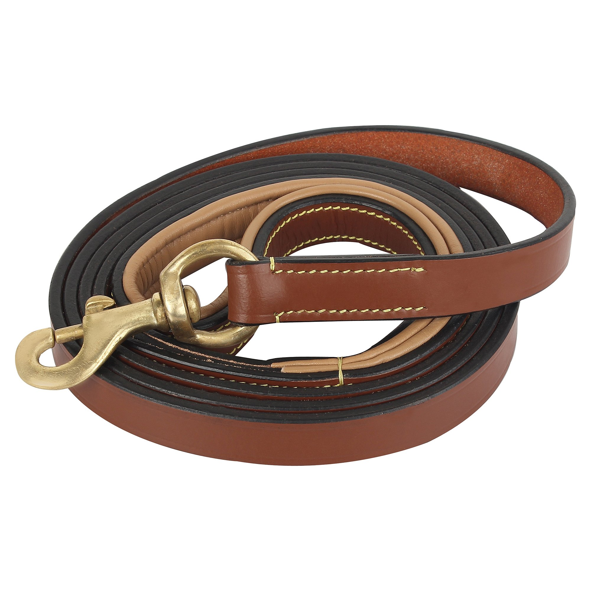 Rustic Town Leather Dog Leash 6 ft - Gentle Leader Leash for Small, Medium & Large Dogs - Miltary Grade Lead for Training & Walking by Rustic Town (Image #1)