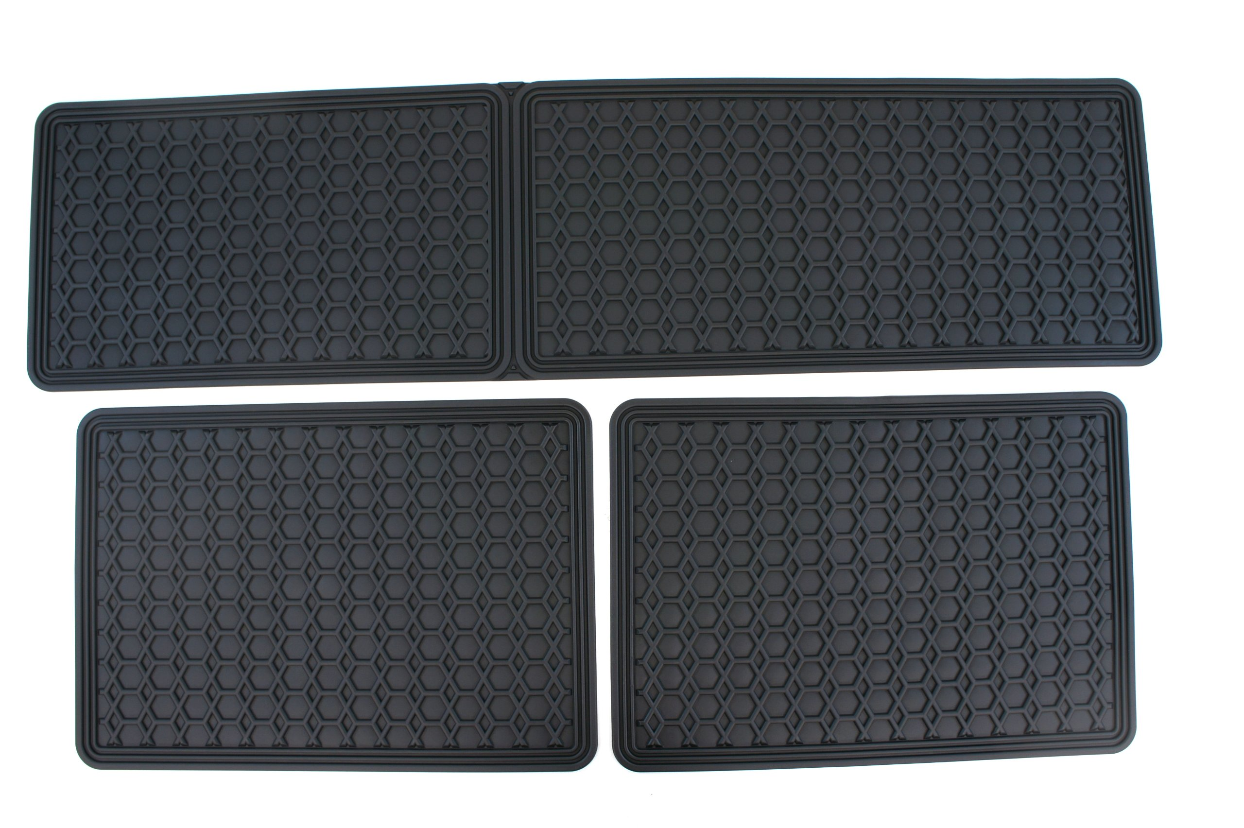 Genuine Toyota Accessories PU320-08110-01 Front and Rear All-Weather Floor Mat - (Black), Set of 6