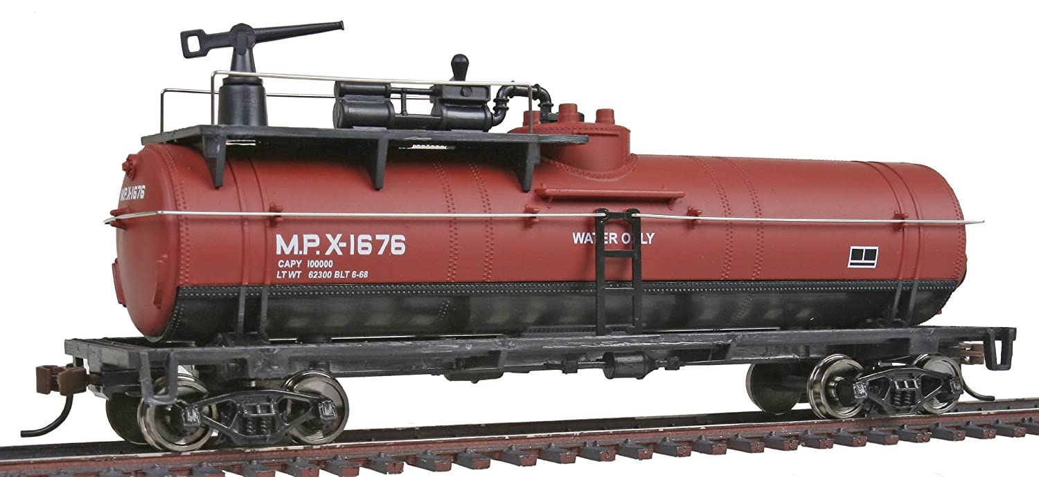 Walthers Trainline Firefighting Car Ready to Run Missouri Pacific #X-1676 (Boxcar Red, Black)
