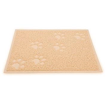 Wangstar Felpudo para gatos, recoge alimentos y arena, con control de dispersión, fácil de limpiar y aspirar: Amazon.es: Productos para mascotas