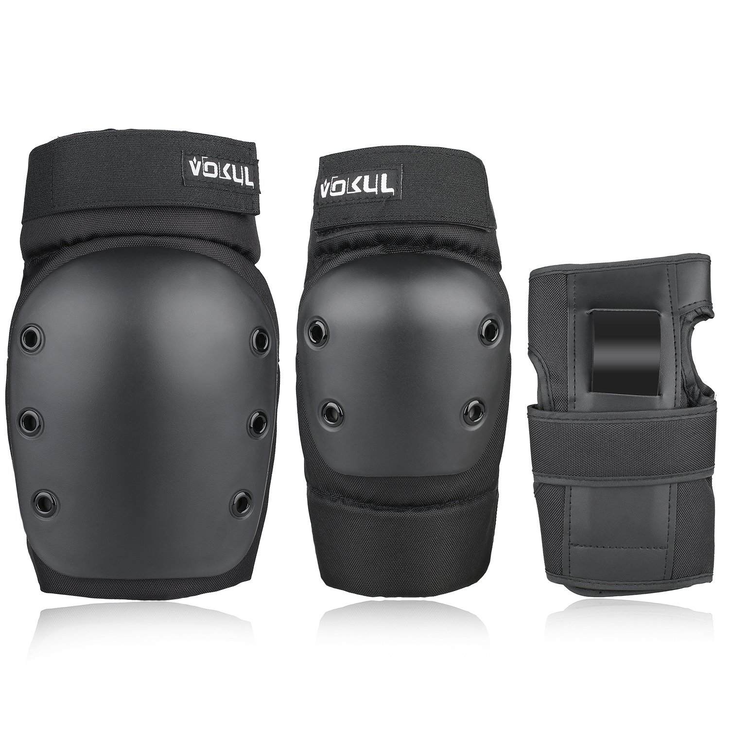 VOKUL 3 in 1 Protective Gear Set for Kids Youths Adults Safety Gear Protector Guards – Kids Knee Pads Elbow Pads Wrist Guards for Scooter Skating Skateboard Cycling Inline Biking BMX Bicycle