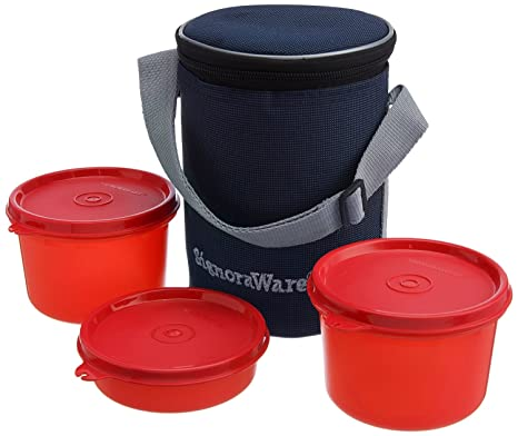 Signoraware Executive Lunch Box with Bag Med  Red  Lunch Boxes