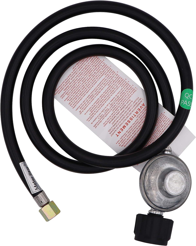 Kit de conexión QCC1 de manguera y regulador de propano de baja presión certificado CSA de 2 metros para parrilla de gas LP/LPG
