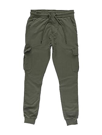 DEF Gringo Herren Jogginghose Cargo Sweat Pants Olive M
