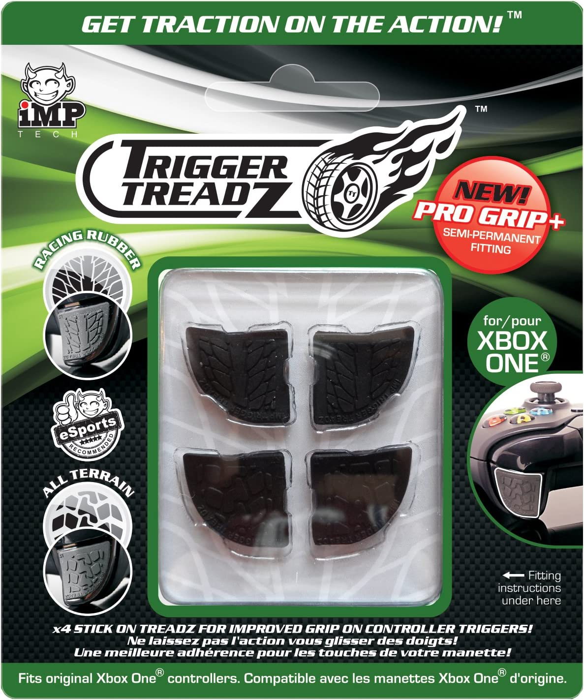 Snakebyte Trigger Treadz   Original 4 Pack For (Xbox One)   Anti Slip Trigger Rubbers   Xbox One by By          Snakebyte