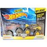 2014 Hot Wheels Off-Road Monster Jam Demolition Doubles Iron Man & Wolverine