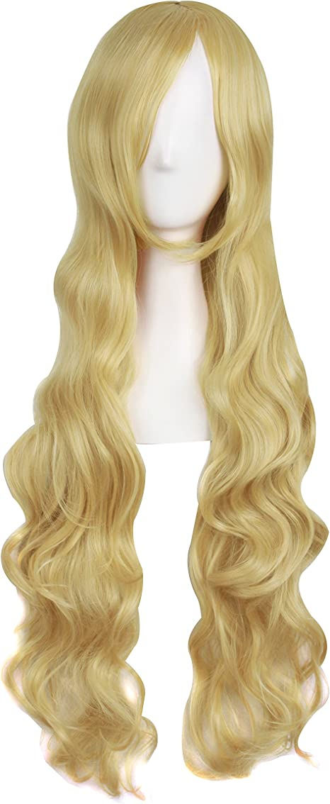 MapofBeauty 32 80cm Brown Long Hair Curly Wavy Wig Cosplay Costume Wig