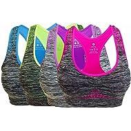 e099ff0a39fa7 Vermilion Bird Women s Seamless Sports Bra High Impact Pocket Yoga Bras