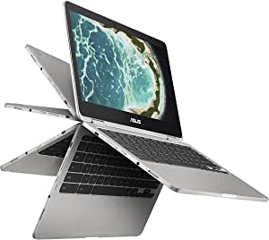 "ASUS Chromebook Flip C302 2-In-1 Laptop- 12.5"" Full HD Touchscreen, Intel Core M3, 4GB RAM, 64GB Flash Storage, All-Metal Body, USB Type C, Corning Gorilla Glass, Chrome OS- C302CA-DHM4 Silver"
