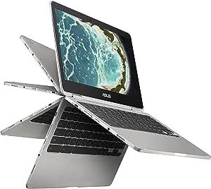 "ASUS Chromebook Flip C302 2-In-1 Laptop- 12.5"" Full HD Touchscreen, Intel Core M3, 4GB RAM, 64GB Flash Storage, All-Metal Body, USB Type C, Corning Gorilla Glass, Chrome OS- C302CA-DHM4 Silver"