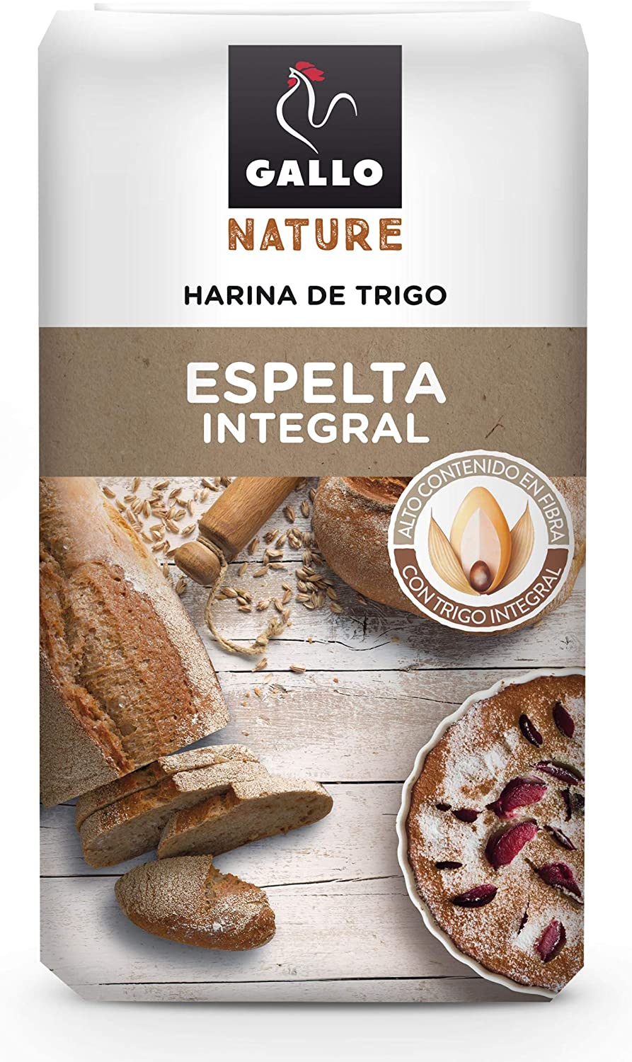 Gallo Nature - Harina de espelta integral - 1 kg: Amazon.es ...