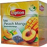 Lipton - PEACH & MANGO - 20 count box (Pack 6 boxes = 120 count) Pyramid tea bags
