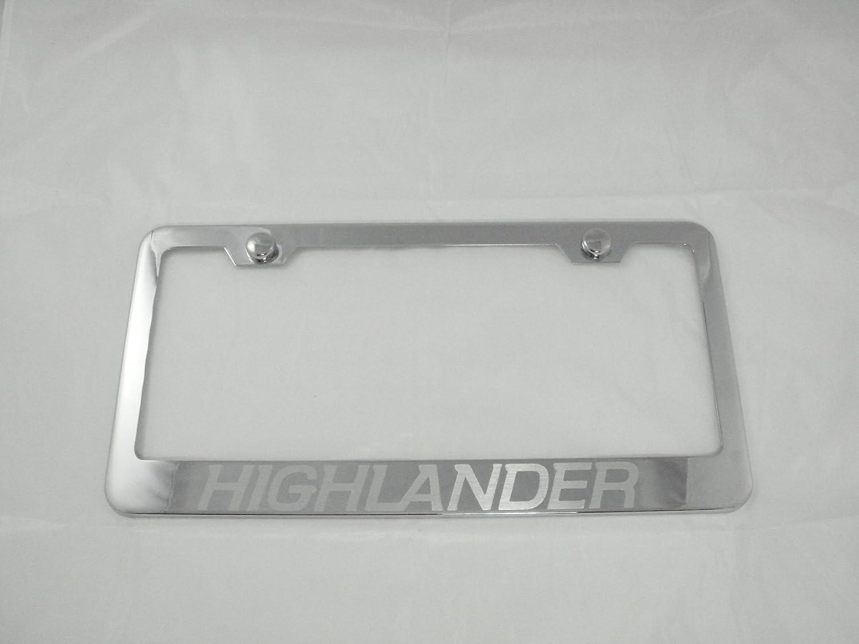 Toyota Highlander Chrome License Plate Frame with Caps
