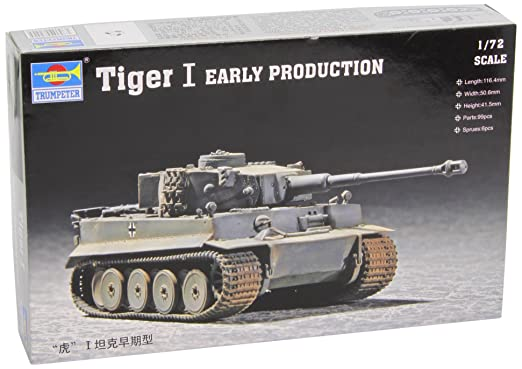 2 opinioni per Trumpeter 07242- Modellino da costruire, Carro armato pesante Tiger 1, in scala