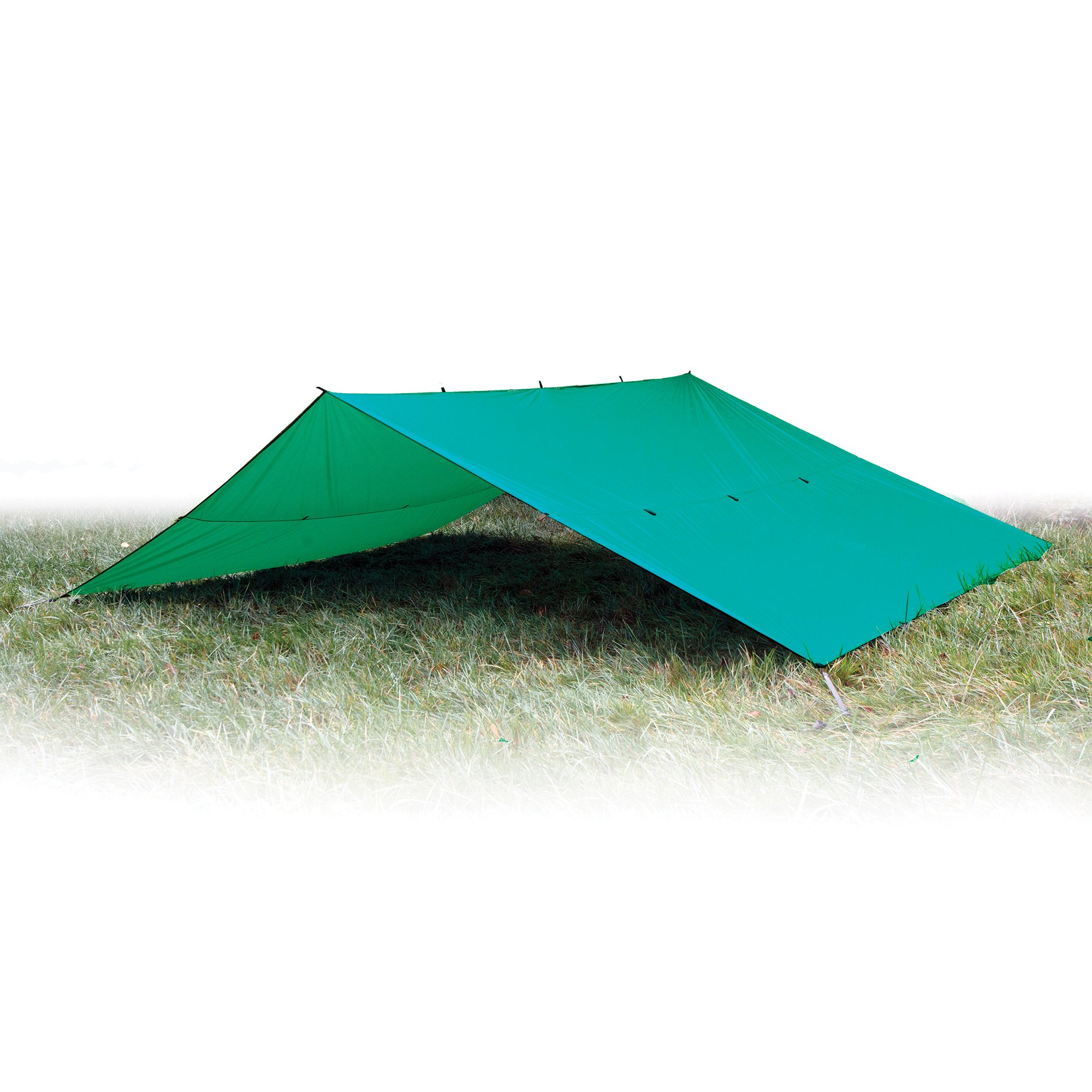 Aqua Quest Guide Tarp XL 20 x 13 ft Green - Ultralight Waterproof Rip-Stop Sil Nylon Backpacking Rain Fly - Extra Large Base Camp Shelter by Aqua Quest