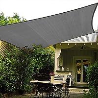 Patio Shack HAIKUS Zonnescherm Zeilrechthoek 2x3 meter, 98% UV-blok Ademend HDPE Tuin Patio Luifel met Gratis Touwen…