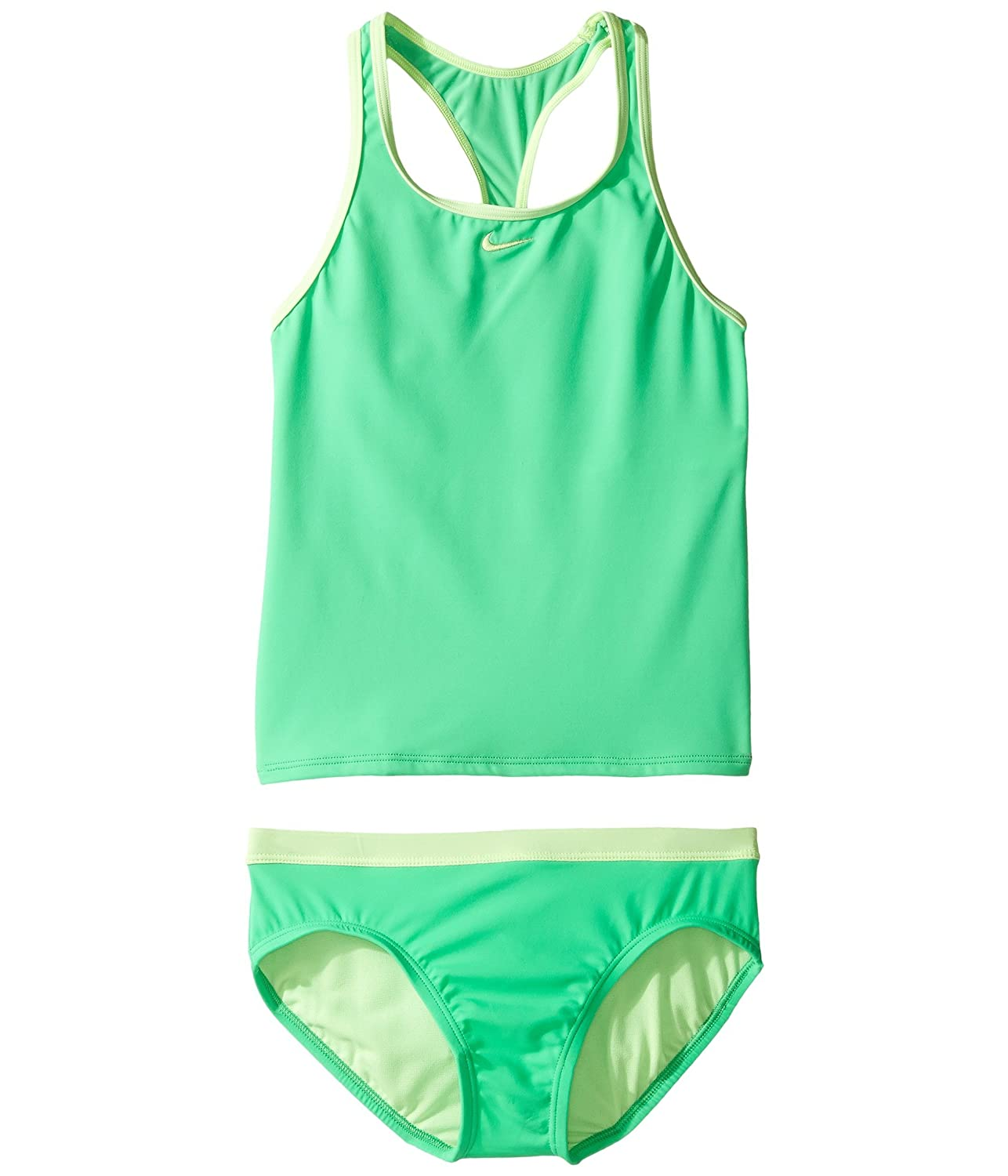 (ナイキ) NIKE ガール水着セパレートスウィムセット Core Solid Racerback Tankini (Big Kids) Electro Green 10 Big Kids (10歳) One Size B078PZQ2HB