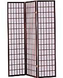 ACME 02277 Naomi 3-Panel Wooden Screen, Cherry Finish