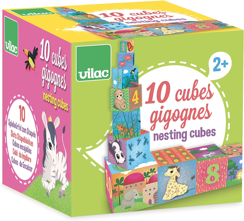 2481 Vilac Cubes Gigognes Animaux Du Monde