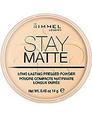 Rimmel London Stay Matte Light Coverage Pressed Powder,1 Transparent, 14g