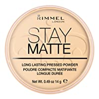 Rimmel London Stay Matte Pressed Powder, 001 Transparent, 14 g