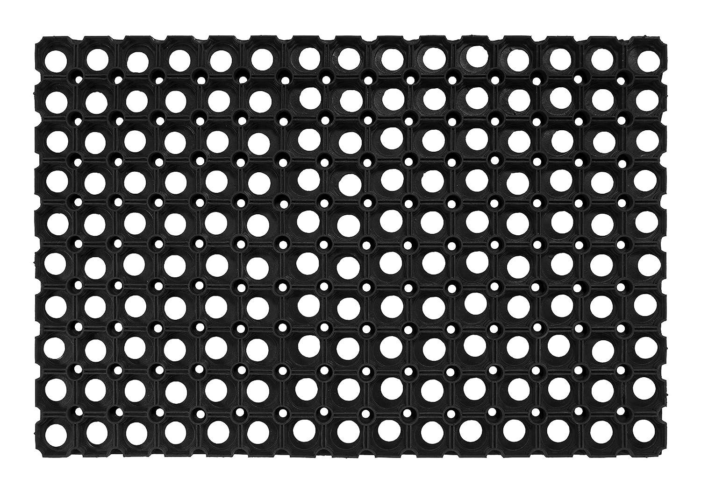 Fußabtreter Gummi witterungsbeständig rutschfest Noppen schwarz Fußmatte Läufer