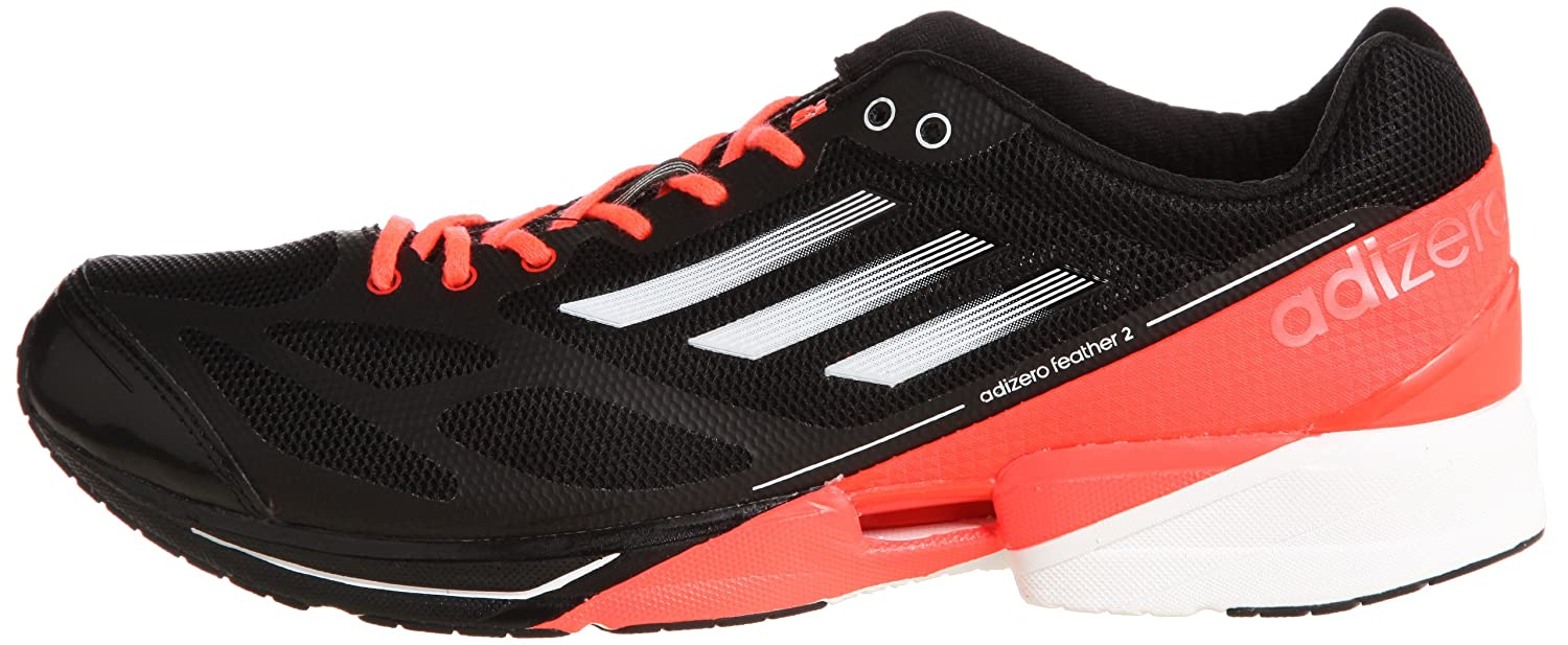brand new 4cc7d 0868f Amazon.com  Adidas adiZero Feather 2 M Black Infrared Sprint Web Mens  Running Shoes G61900 US size 12.5  Running