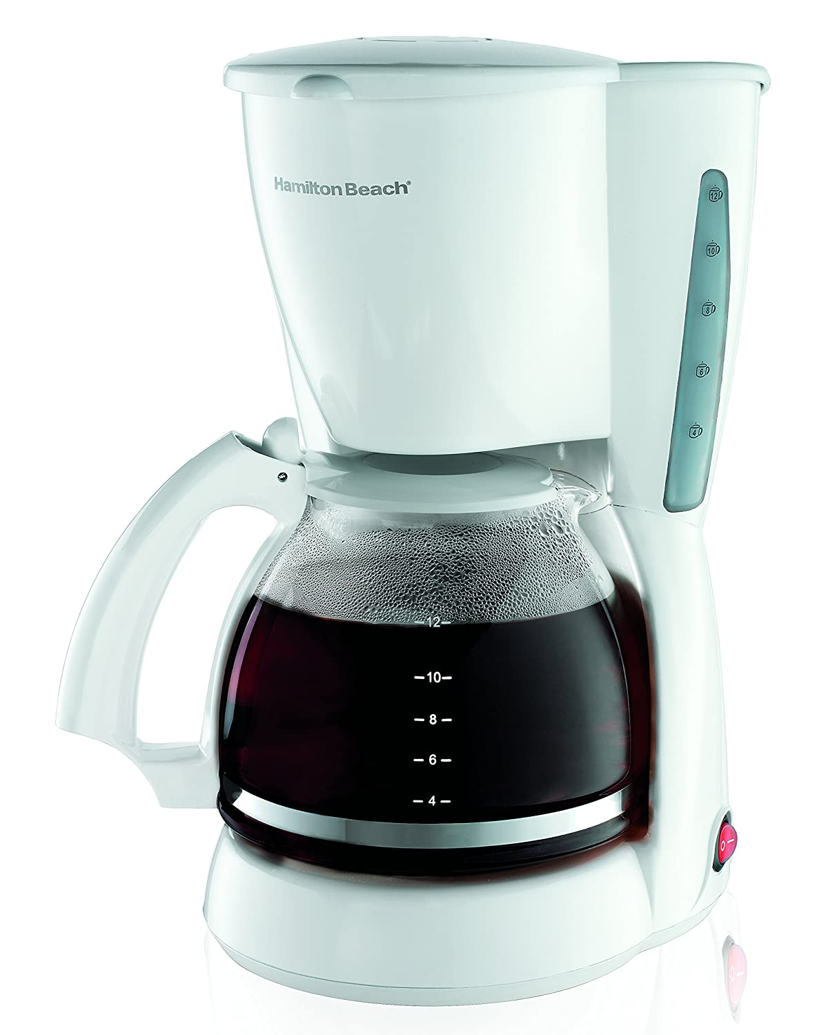 Hamilton Beach 49315 - Cafetera (Goteo, Color blanco, Café): Amazon.es: Hogar