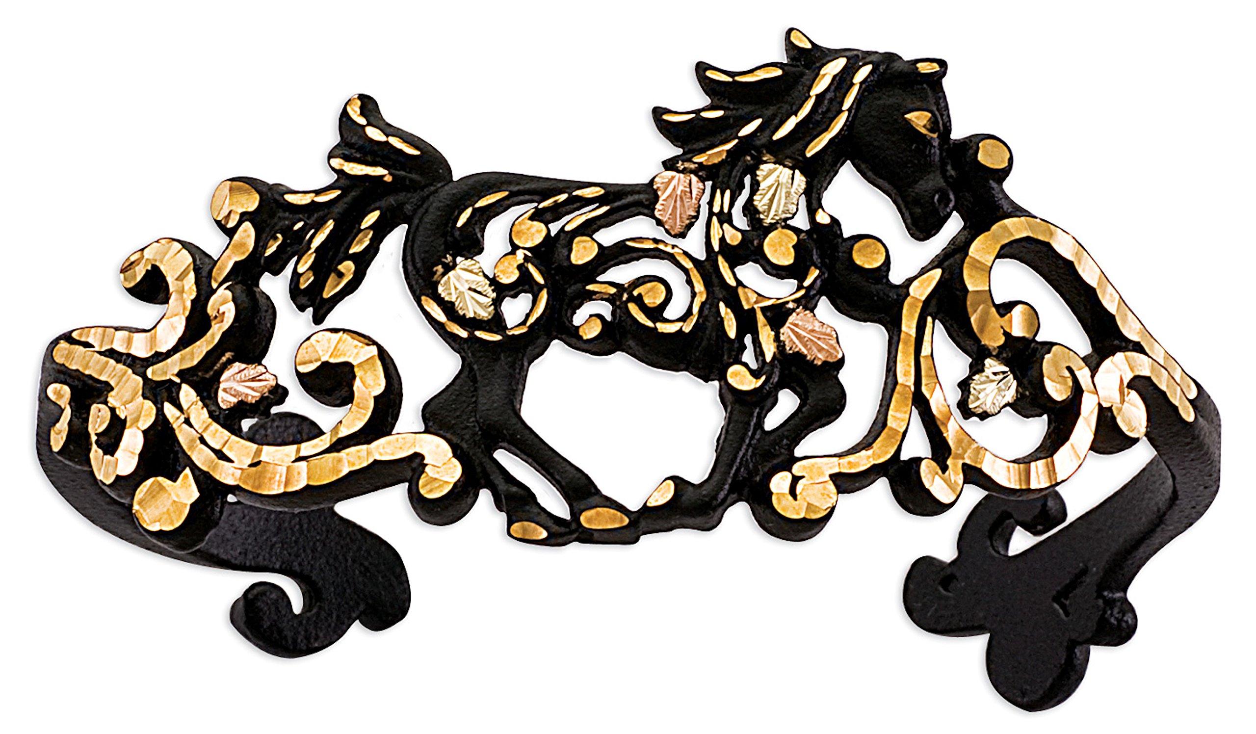 Black Hills Gold Black Powder Horse Bracelet
