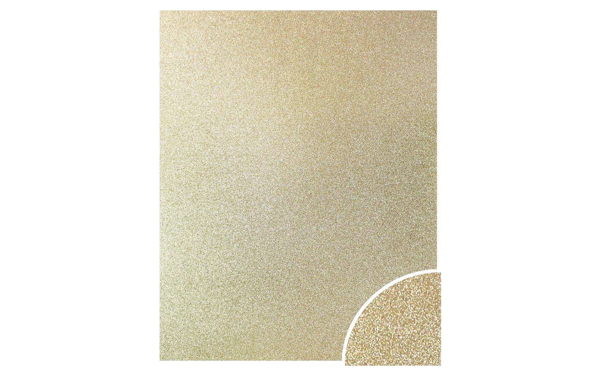 Paper Accents Cdstk Glitter 22x28 85lb Light Gold UPC