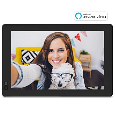 Nixplay W10B Seed 10.1  Widescreen Wi-Fi Cloud Digital Photo Frame with IPS Display, iPhone & Android App, iOS Video Playback, Free 10GB Online Storage, Alexa Integration and Hu-Motion Sensor, Black