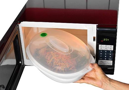 Home-X - Vaporizador para microondas con tapa alta, cocina rápida ...