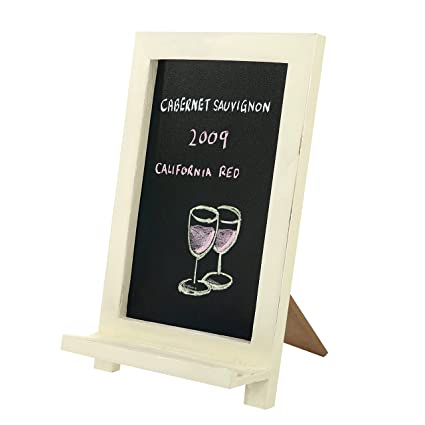 Delicieux Mini Freestanding Wood Framed Erasable Chalkboard Sign, Tabletop Easel Memo  Board, White