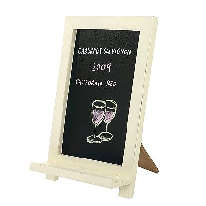 Amazon.com : Mini Freestanding Wood Framed Erasable Chalkboard Sign ...