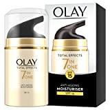 Olay Total Effects Anti-Ageing 7-in-1 Day Cream Moisturiser SPF15 Fights the 7 Signs of Ageing for Radiant Skin, 50 ml