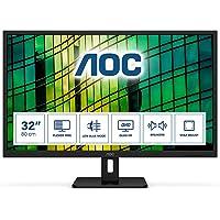 "AOC Q32E2N 31,5"" panoramiczny IPS LED czarny monitor multimedialny (2560 x 1440/4 m/2 x HDMI/DP)"