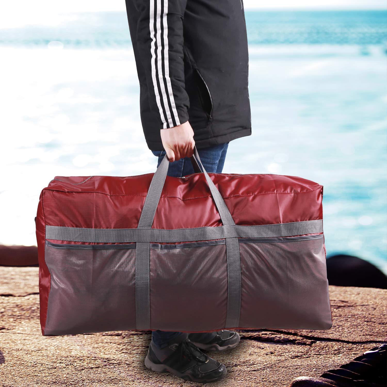 REDCAMP Bolsa de Lona Plegable y Ligera Color Negro y Azul 96l-Wine Red Bolsa de Viaje Extragrande de 75 L//96 L Naranja Bolsa de Lona para Hombres y Mujeres Resistente al Agua