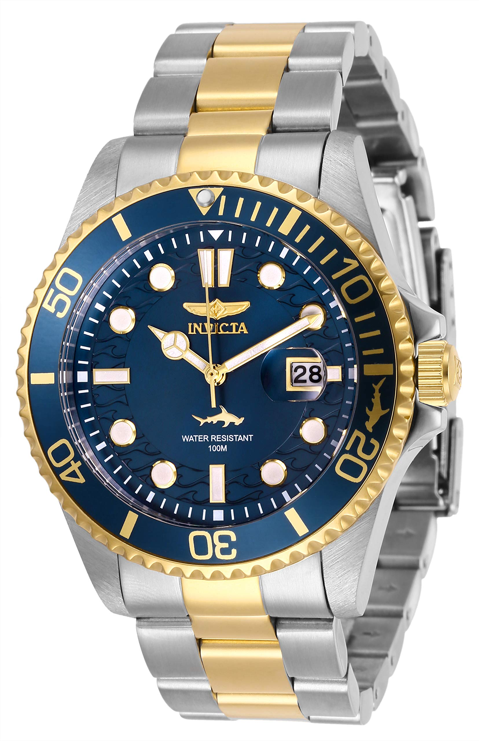 Invicta Men's Pro Diver Quartz Watch with Stainless Steel Strap, Two Tone, 22 (Model: 30021) by Invicta (Image #1)