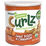 Sprout Organic Baby Food Toddler Snacks Plant Power Curlz, Sweet Potato and Cinnamon, 1.48 Ounce Canister (Pack of 1)