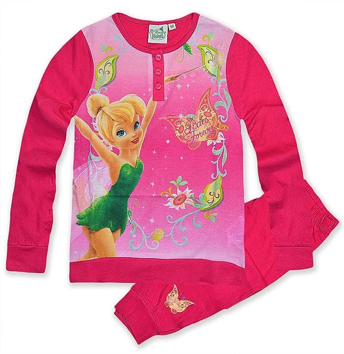 Ropa de descanso para niñas las hadas de Disney pijama conjunto de cinta y sifón sea infantil con forma de diseño de Campanilla: Amazon.es: Ropa y ...