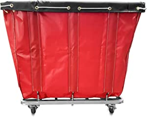 8 Bushel Capacity Laundry Basket Truck (Red)